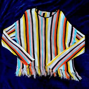 ❤️PROMESA. LIGHTWEIGHT VERTICAL STRIPED SWEATER.